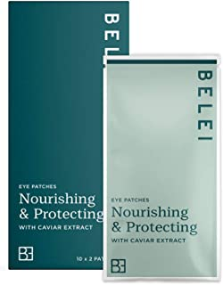 Amazon-merk: Belei - voedende en beschermende oogpatches met kaviarextract, 20 stuks (10 hoezen met elk 2 patches)