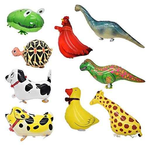 Palloncini Animali Camminano,Xiuyer 9 Pezzi Walking Animal Balloons Foglio di Alluminio Palloncini ad Elio per Bambini Giocattolo Compleanno Festa Decor Regalo