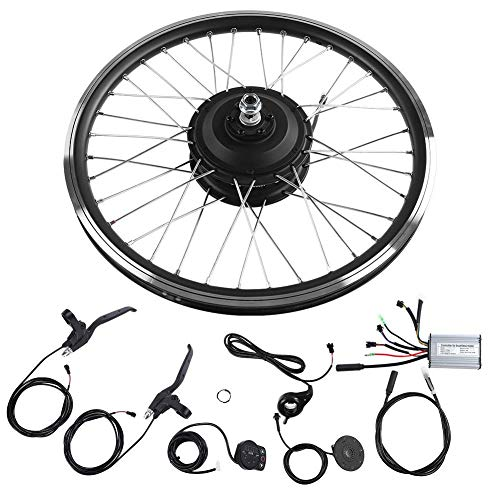VGEBY 36V/48V 350W E-Bike 26'Kit de conversión de Rueda Delantera/Trasera con LED Dispaly Bicycle Cycling Engine(48V- Front Motor)