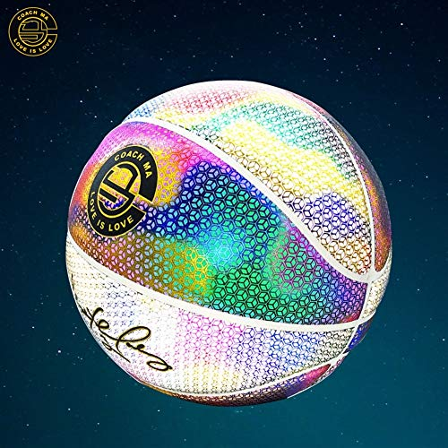 Read About YZPXDD Holographic Glowing Reflective Basketball Mens Official NBA Size 29.5 Size 6 Women...