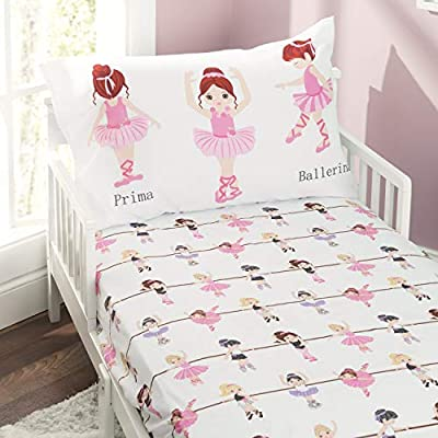 EVERYDAY KIDS Toddler Fitted Sheet and Pillowcase Set - Soft Microfiber, Breathable and Hypoallergenic Toddler Sheet Set