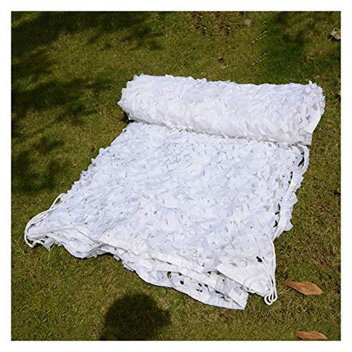 LXF JIAJU Tamaño 4x5m 6x3 4x3 Camo DE Nieve Blanco Camuflaje De Camuflaje De 2 Capas Neto De Sombra Solar Caza Al Aire Libre Camping Sun Shelter Malla Netting (Size : 4x3M)