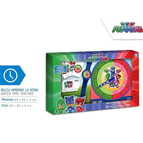 PJ Masks - Set d'apprentissage des Heures (PJ17120), Multicolore (Kids Licensing 1)