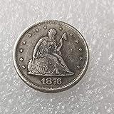 VanSP Copy 1876 Liberty&Eagle America 20 Cent Coin-Antique Silver Dollar Morgan Coin Collection US Silver Coin Replica