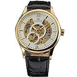 Dilwe Armbanduhr, männliche Uhr täglich wasserdicht mit PU Uhrenarmband Glas Zifferblatt für Jungen Familien Freunde Geschenk(# 4)