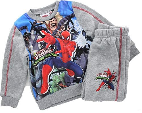 Jogginganzug/Trainingsanzug mit Spiderman Motiv in grau, Pullover und Hose, Motiv:Spiderman, Größe:2 Jahre