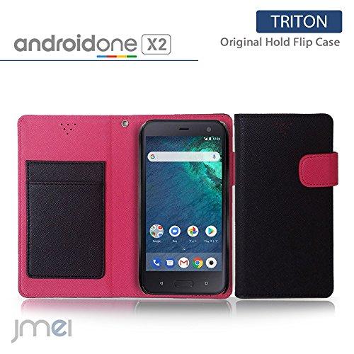 android one X2 ケース HTC U11 Life 手帳型 アンドロイドワン x2 カバー ブランド 手帳 閉じたまま通話 ケース おしゃれ 手帳型ケース TRITON ブラック yモバイル simフリー スマホ カバー スマホケース スマートフォン