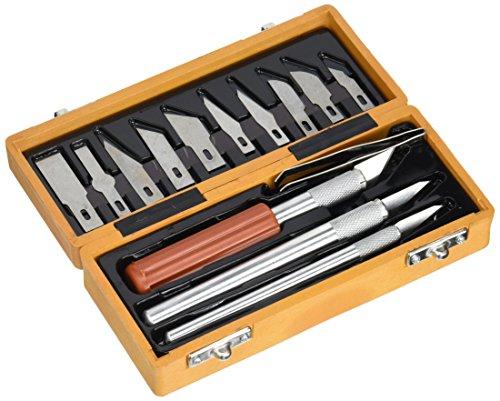 Extol Craft 91350 Couteaux à Découper en Bois de (14 pièces)