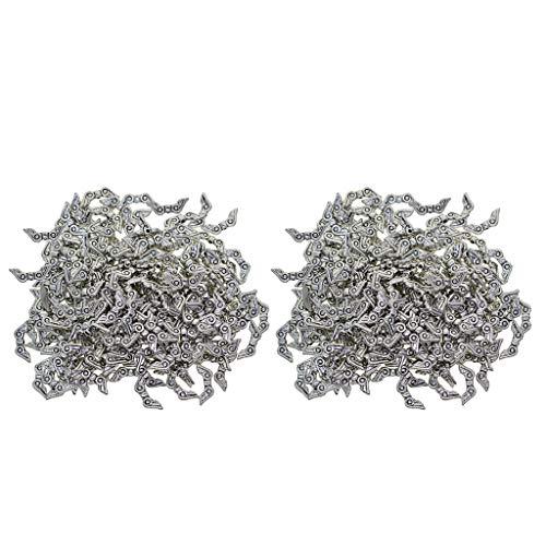 harayaa 400 Piezas de Plata ala de ángel Cuentas de Aleación Colgante DIY Pulsera Collar