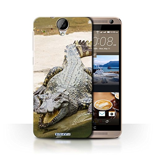 Hülle Für HTC One E9/E9+/Plus Wilde Tiere Krokkodil/Alligator Design Transparent Ultra Dünn Klar Hart Schutz Handyhülle Case