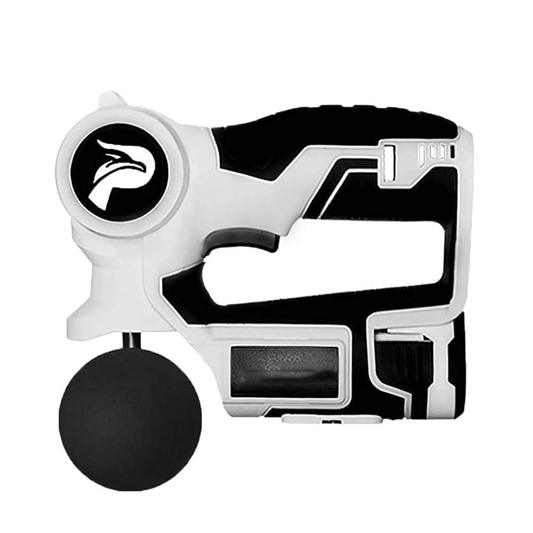 有効ラベル単にマッサージガン、パーソナルパーカッション手持ち型マッスルマッサージャー - ディープティシューマッサージャー2700回/分6スピード設定 - 4マッサージヘッド