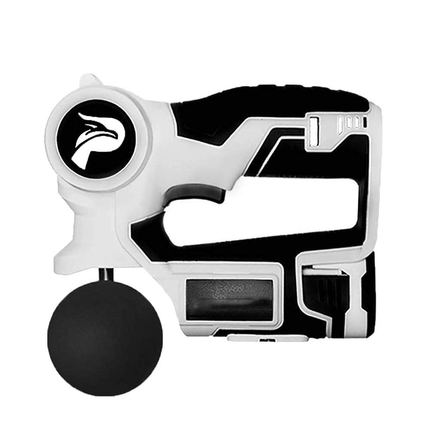 引き算高架温度マッサージガン、パーソナルパーカッション手持ち型マッスルマッサージャー - ディープティシューマッサージャー2700回/分6スピード設定 - 4マッサージヘッド
