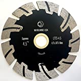 Whirlwind USA LTTS 4.5 in. Dry or Wet Cutting General Purpose Power Saw T Segmented Diamond Blades for Granite Stone Concrete (Factory Direct Sale) (4.5')