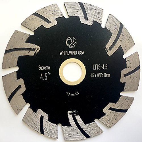 Whirlwind USA LTTS 4.5 in. Dry or Wet Cutting General Purpose Power Saw T Segmented Diamond Blades for Granite Stone Concrete (Factory Direct Sale) (4.5
