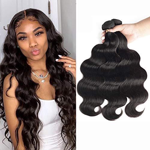 Brazilian Hair Bundles Body Wave 18 20 22 inch 3 Bundles Virgin Hair Bundle Deals Long Hair Extensions Unprocessed Remy Human Hair Weaves