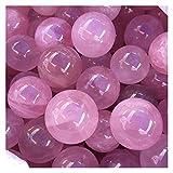 JLZK Decorativo Rosa Rosa Polvo Cuarzo Natural Cristal Esfera Bola sanación Piedra decoración casera Amantes Regalos Cristal (Color : 1pcs, Size : Approx30-40mm)