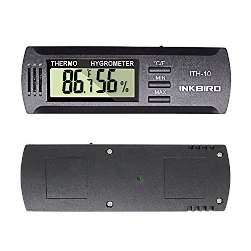 Inkbird Digital Thermometer and Hygrometer with F and C Suitable for Cigars Humidor Guitar Incubator Portable Temperature Tester and Humidity Tester ITH-10
