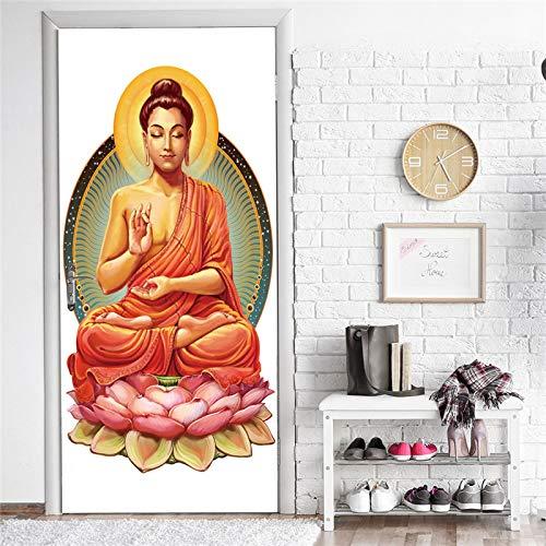 3D deursticker, zelfklevend deurbehang, grappig tekenfiguur, deurbehang, waterdicht PVC, afneembaar, deurposter, deurfolie, posterbehang, fotobehang, binnendeur, slaapkamer, badkamer, keuken 77x200cm E