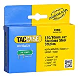 Tacwise 1217 Grapas de acero inoxidable de tipo 140/10 mm