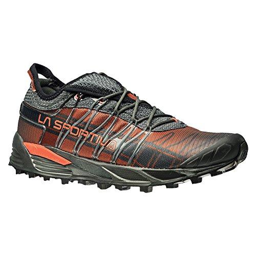 La Sportiva Men's Mutant Backcountry Trail Running Shoe, Carbon/Flame, 44 M EU