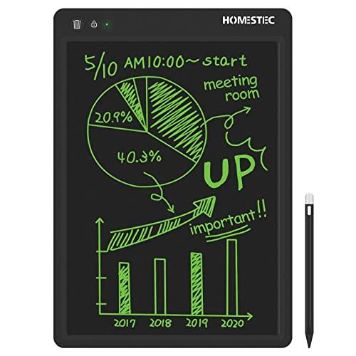 HOMESTEC LCD Tavoletta Grafica Display Colorato Tavolo da Disegno Cancellabile (Nero, 13,5 Pollici)