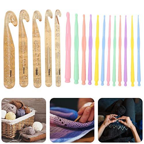 Accesorios de tejer Ganchillos de cristal de aguja barbuda para hilo de coser