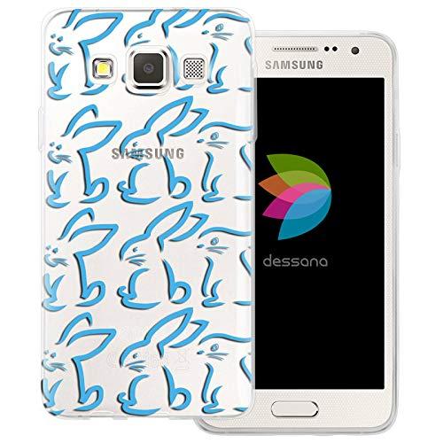 dessana - Cover trasparente per Samsung Galaxy A3 (2014-2015), motivo: coniglietto pasquale