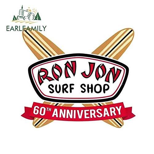 A/X Autoaufkleber 13 cm x 11,5 cm Ron Jon Surf Shop Vinyl-Aufkleber zum 60-jährigen Jubiläum Kreative Aufkleber Geeignet GTR EVO Sx