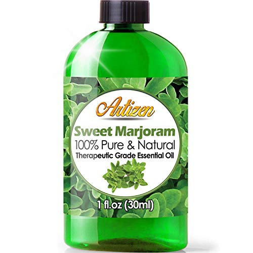 Artizen Sweet Marjoram Essential Oil (100% Pure & Natural - UNDILUTED) Therapeutic Grade - Huge 1oz Bottle - Perfect for Aromatherapy, Relaxation, Skin Therapy & More!
