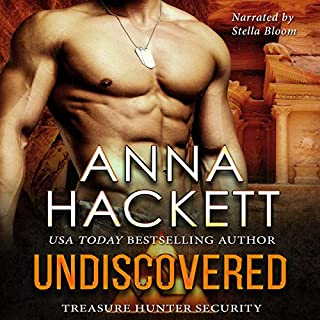 Undiscovered     Treasure Hunter Security, Book 1              By:                                                                                                                                 Anna Hackett                               Narrated by:                                                                                                                                 Stella Bloom                      Length: 5 hrs and 25 mins     57 ratings     Overall 4.8