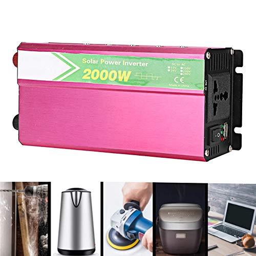 Cheapest Price! Nannday Car Power Inverter, Vehicle Adapter 2000W DC 12V to AC 220V-240V Car Power I...