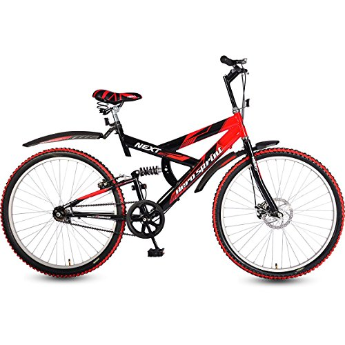 Hero Men's Next 26T Single Speed 18 Inch Frame Sprint Mountain Bike (Red & Black)