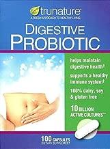 Trunature Digestive Probiotic, 10 Billion Active Cultures, 100 Capsules (Pack of 2)
