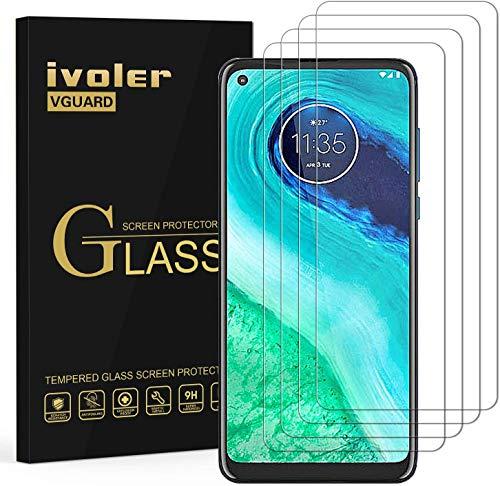 VGUARD 4 Stücke Panzerglas Schutzfolie für Motorola Moto G8, Panzerglasfolie Folie Bildschirmschutzfolie Hartglas Gehärtetem Glas BildschirmPanzerglas Bildschirmschutz für Motorola Moto G8