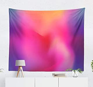 Vibrant Neon Wall Tapestry,Tapestry Wall Hanging Texture Vibrant Neon Pastel Abstract Art Backdrop Blue Bright WallArt for Bedroom WallDecor Tablecloth Dorm Decor 60x50 Inches, Vibrant Neon
