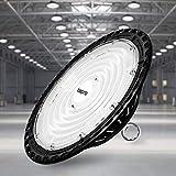 200W UFO LED Lámpara Alta Bahía, bapro Delgada 20000LM Lámpara Industrial, IP65 Focos Led Interior Techo 6500K,Led Iluminación Comercial Leds Floodlight para Fábricas, Aeropuerto, Patio, Restaurante