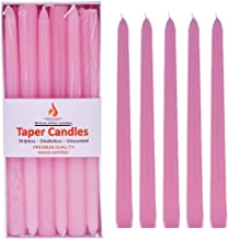 Michael Zohar Candles Unscented Hand Dipped Taper Candles | 12 Dripless, Smokeless Candlesticks with an Ultra Long 8 Hour ...