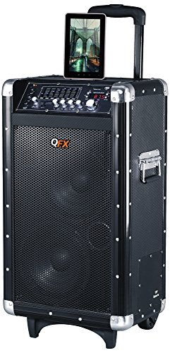 QFX PBX-3080BT Portable Battery Powered Bluetooth PA Speaker