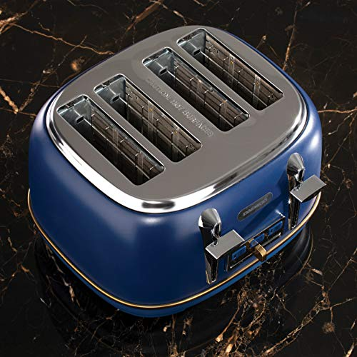 Daewoo Astoria 4 Slice Toaster 220-240 V/50-60 Hz - Navy Blue