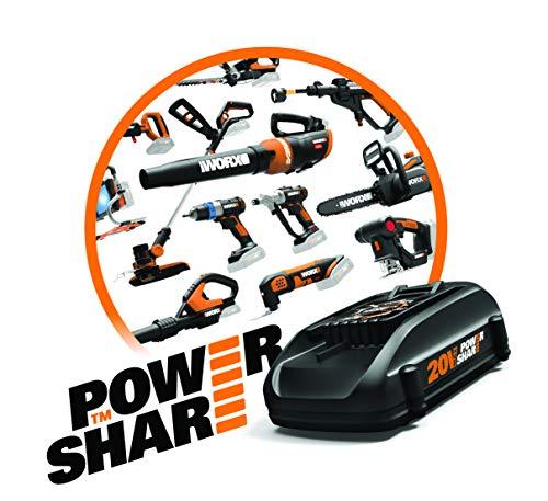 Product Image 8: WORX WG625 20V Hydroshot Cordless Portable Power Cleaner, Black and Orange