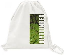 DIYthinker Green Leavest Plant Picture Natuur Doek Trekkoord Rugzak Reizen Winkelzakken