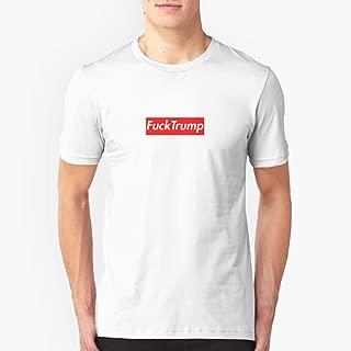 Fuck Trump supreme box logo Slim Fit TShirtT shirt Hoodie for Men, Women Unisex Full Size.