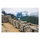Rompecabezas de 1000 piezas, rompecabezas para adultos, adolescentes, rompecabezas con detalle de Machu Picchu, Inca peruano (75 x 50 cm)