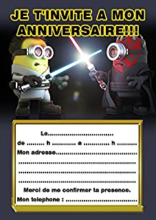 Carte Anniversaire Zig Et Sharko.Amazon Fr Carte Invitation Anniversaire Minion