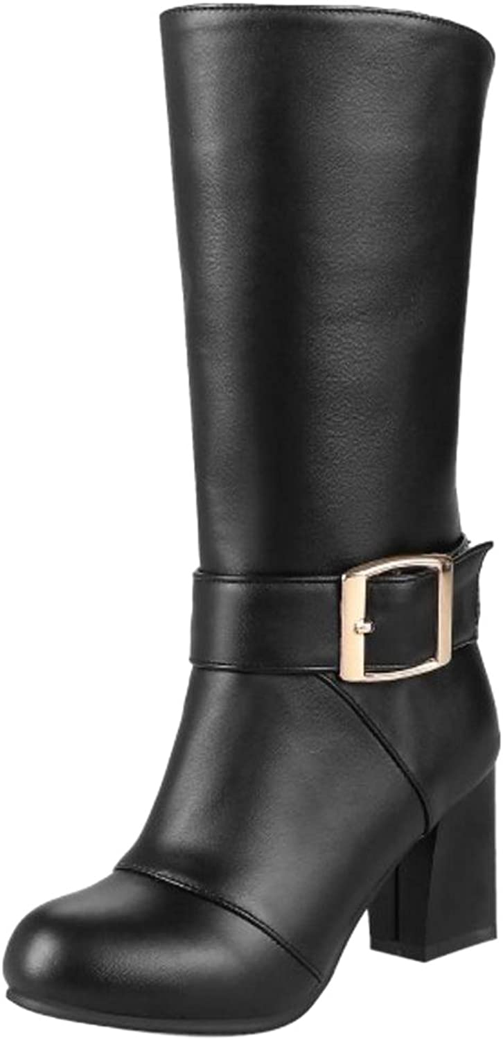 TAOFFEN Women's Fashion Heels Boots Back Zipper