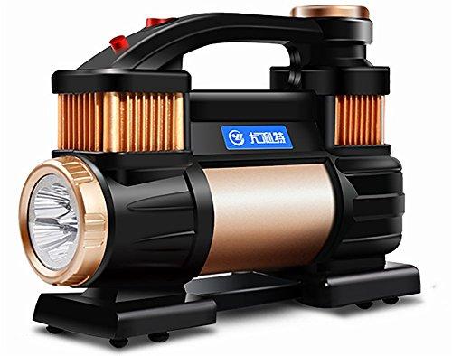 JINGBO Tragbare Luftpumpe Auto 12V Doppelzylinder 30cm im Durchmesser Elektrische Luftpumpe LED-Beleuchtung 180W Schnelle Inflation (Auto/Motorrad/Fahrrad/Ball)