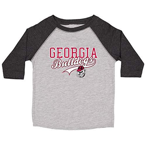 College Kids NCAA Georgia Bulldogs Youth Home Run Raglan Tee, Size 8-10 /Small, Black