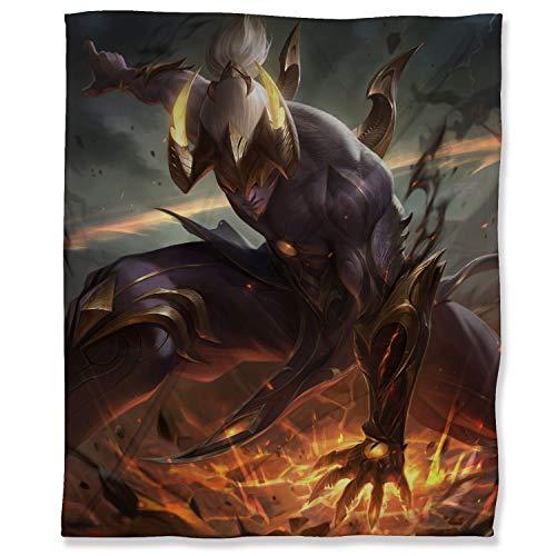 Manta de microfibra suave y mullida de 150 x 200 cm, de League Legends mullida y acogedora manta para adultos niños o mascotas, Nightbringer Lee Sin Prestige Edition