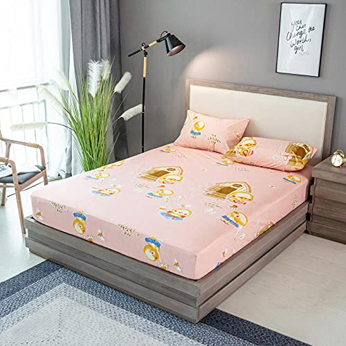 XGguo Ventilerande madrasskydd bomull – madrasser bäddmadrass antiallergiska, anti-kvalster och hygieniskt vattentätt lakan borstat enfärgat tryckt-12_200 x 220 x 28 cm