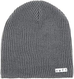 قبعة نيف اليومية للرجال للشتاء، ملمس الفحم، مقاس واحد
